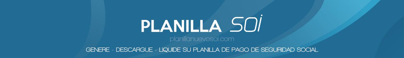 PLanilla Nuevo SOI